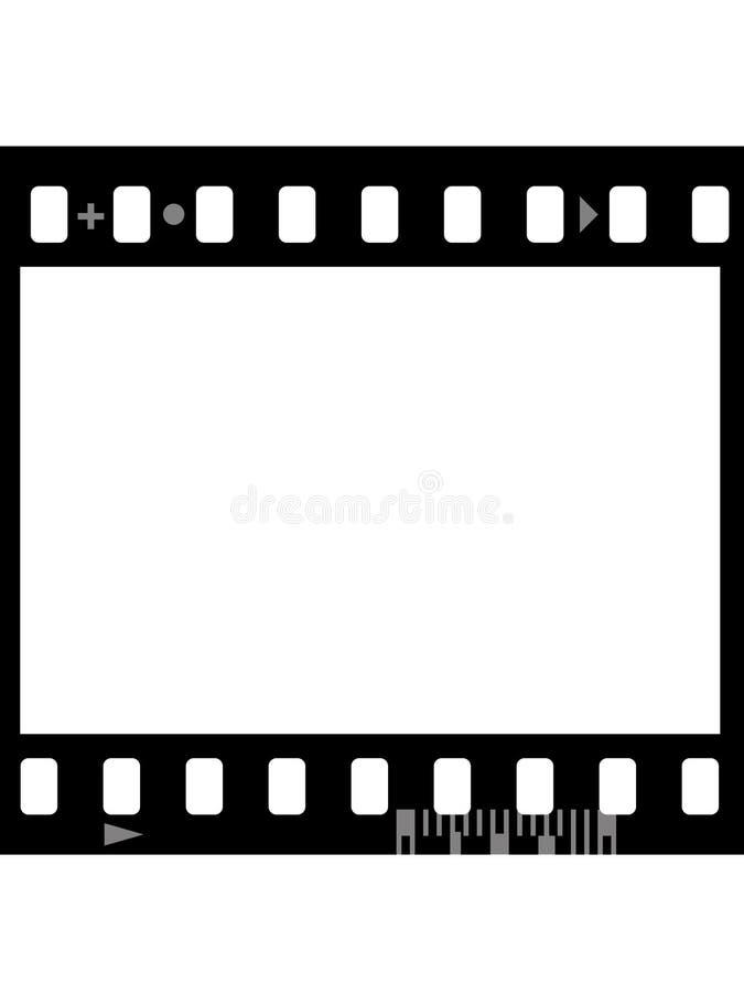 Capítulo de la película fotográfica (inconsútil) ilustración del vector