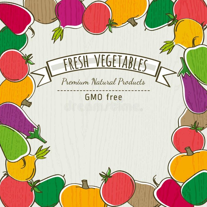 Capítulo de la verdura orgánica, vector libre illustration