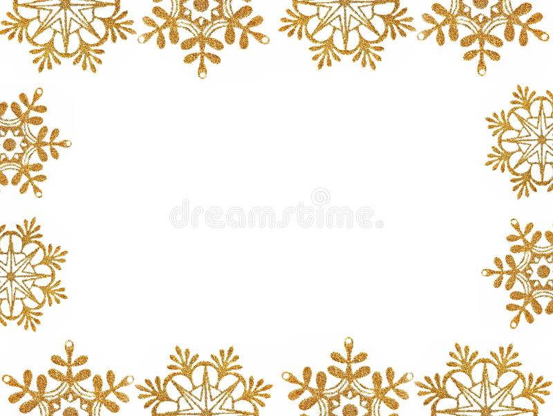 Capítulo de las estrellas de la nieve del oro stock de ilustración