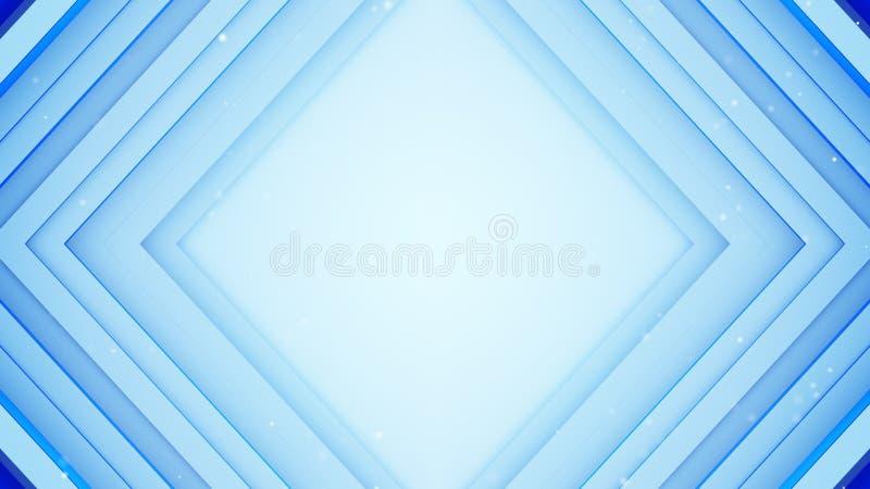 Capítulo de las líneas azules representación del absrtact 3D ilustración del vector