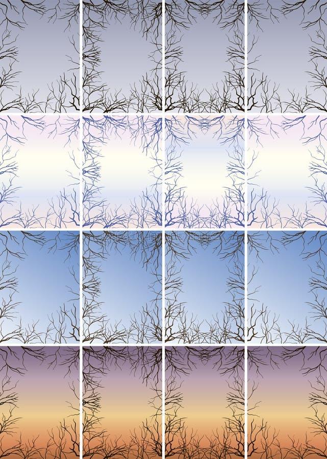 Capítulo de las ramas contra el cielo fotografía de archivo libre de regalías