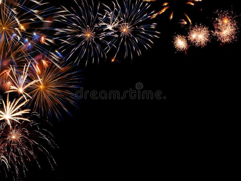 Capítulo de los fuegos artificiales coloridos fotos de archivo