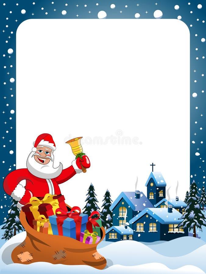 Capítulo de Navidad con noche de la Navidad de sonido de la campana de Santa Claus libre illustration