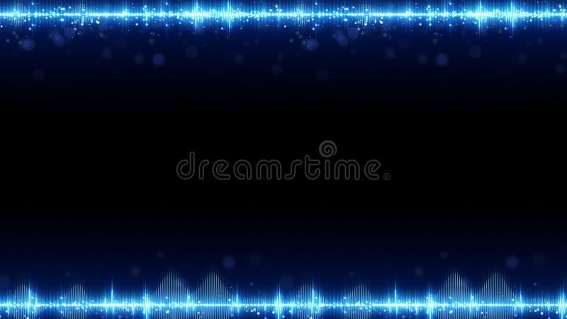 Capítulo del equalizador audio digital azul y del espacio libre libre illustration