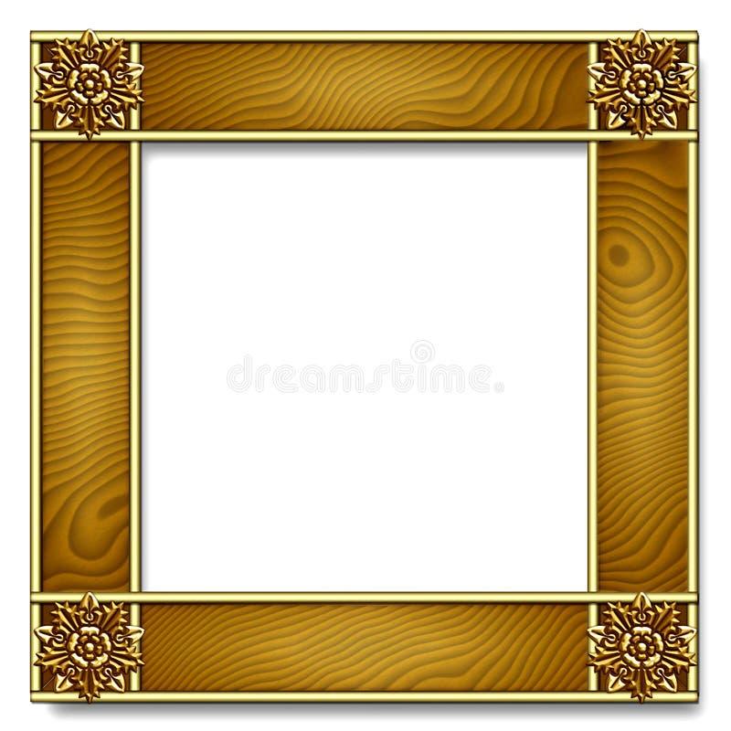Capítulo del oro y de madera ilustración del vector