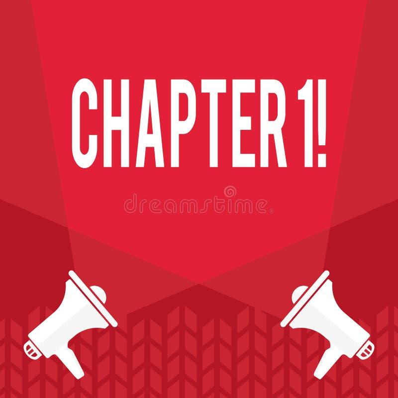 Capítulo 1 do texto da escrita da palavra Conceito do negócio para começar algo novo ou fazer mudanças grandes em umas viagem ilustração stock