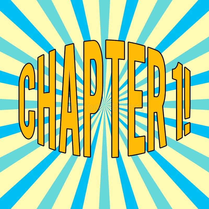 Capítulo 1 do texto da escrita Significado do conceito que começa algo novo ou que faz mudanças grandes em umas viagem ilustração royalty free