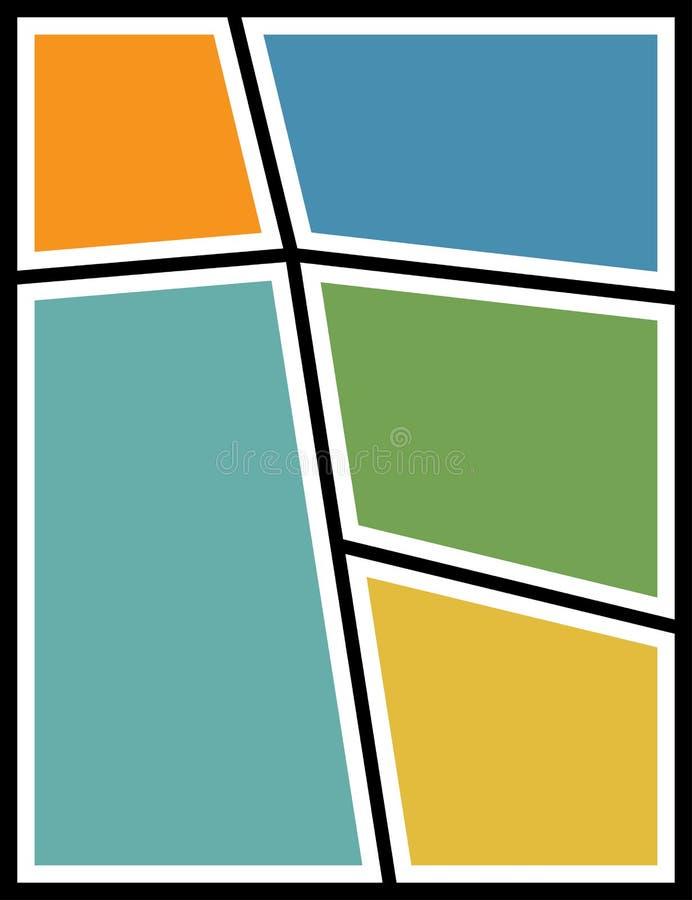 Capítulo el collage de la foto Fondo de la foto Ilustración del vector libre illustration