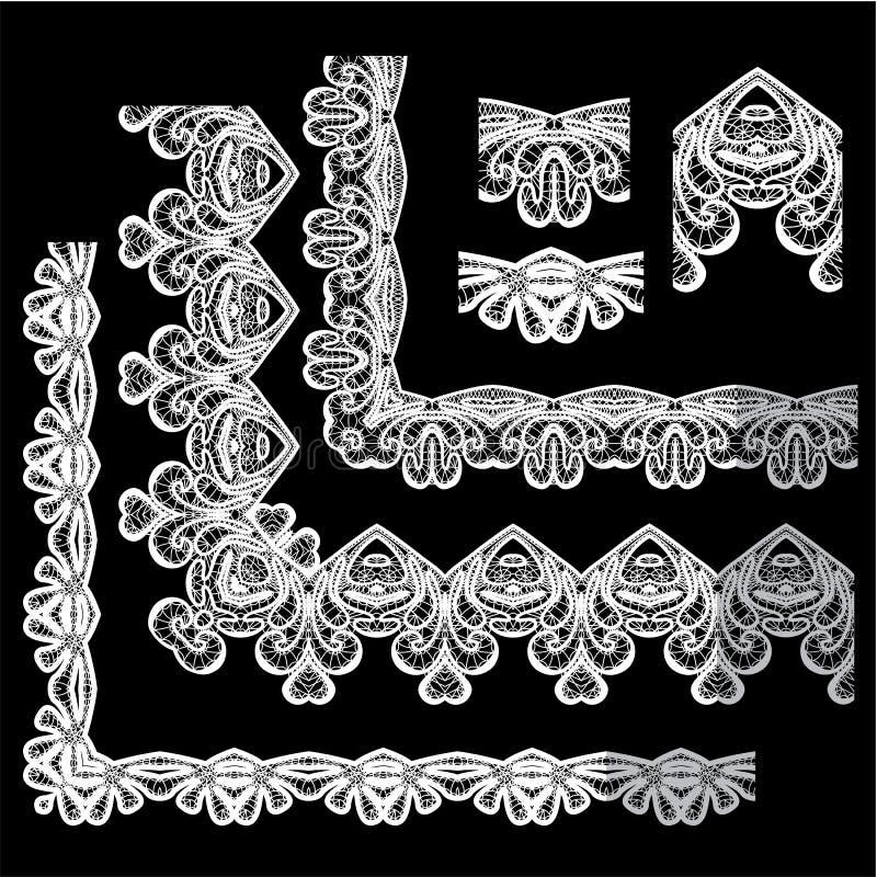 Capítulo el sistema de elementos - los diversos bordes y fronteras del cordón libre illustration