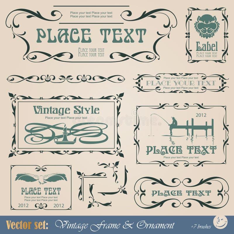 Capítulo en estilo de la vendimia ilustración del vector