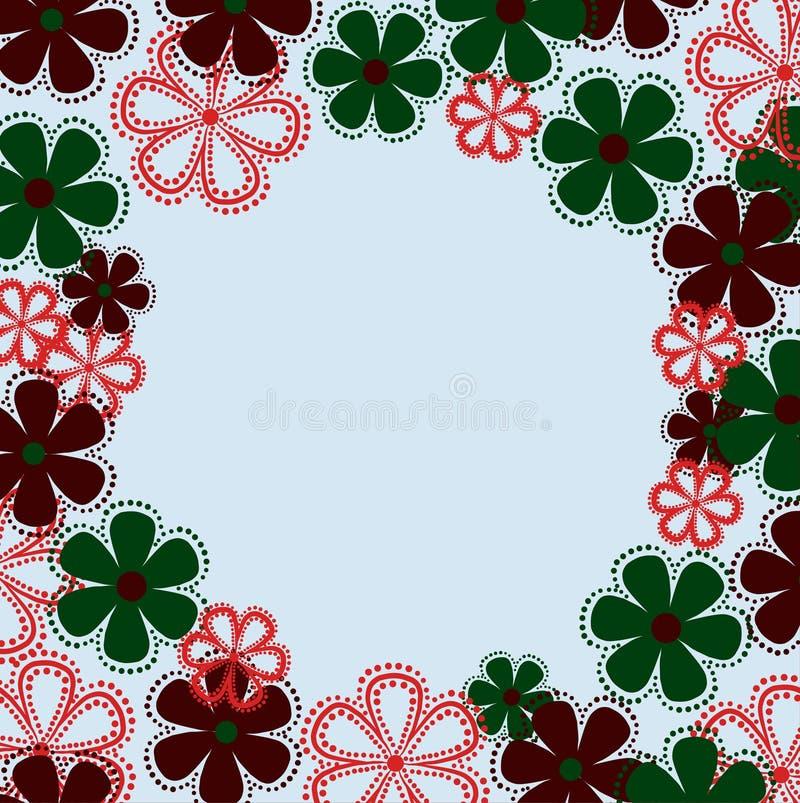 Capítulo, flor, floral, flores, frontera, verde, modelo, ejemplo, diseño, extracto, naturaleza, tarjeta, hoja, primavera, rojo, p libre illustration