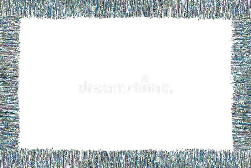 Capítulo hecho de la malla de plata y colorida, aislada en el fondo blanco con la trayectoria de recortes y el espacio de la copi imágenes de archivo libres de regalías