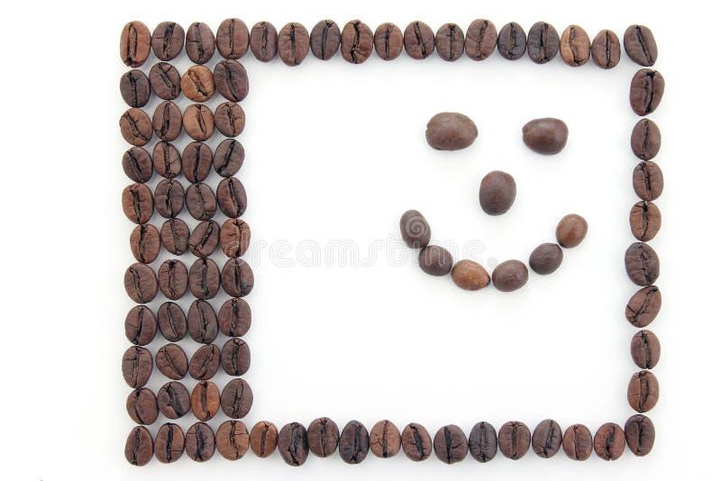 Capítulo hecho de los granos de café imagen de archivo libre de regalías