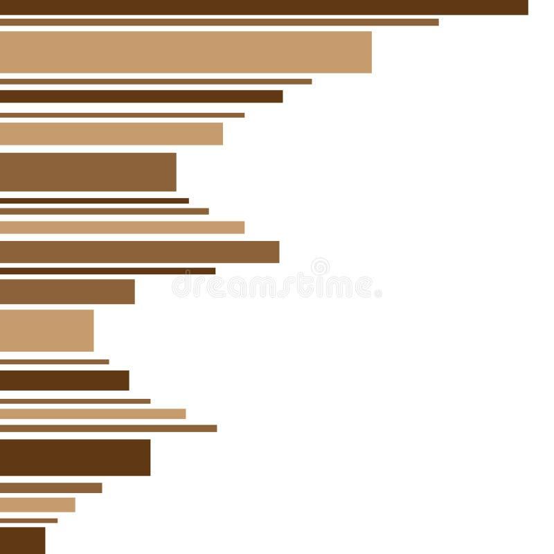 Capítulo hecho de tiras de sombra marrón stock de ilustración