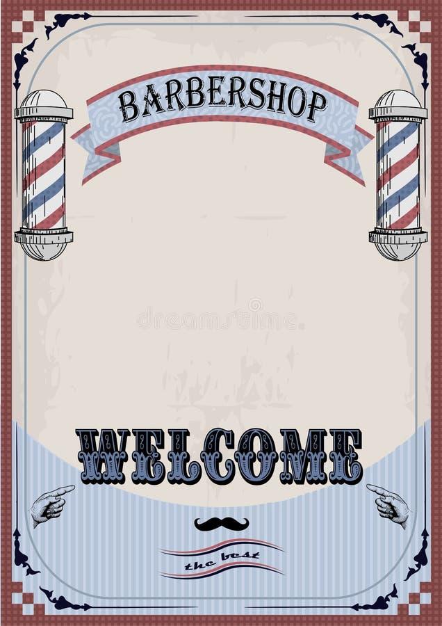 Capítulo la faja o la tabla del letrero de la muestra de frontera para el peluquero, coiffe stock de ilustración