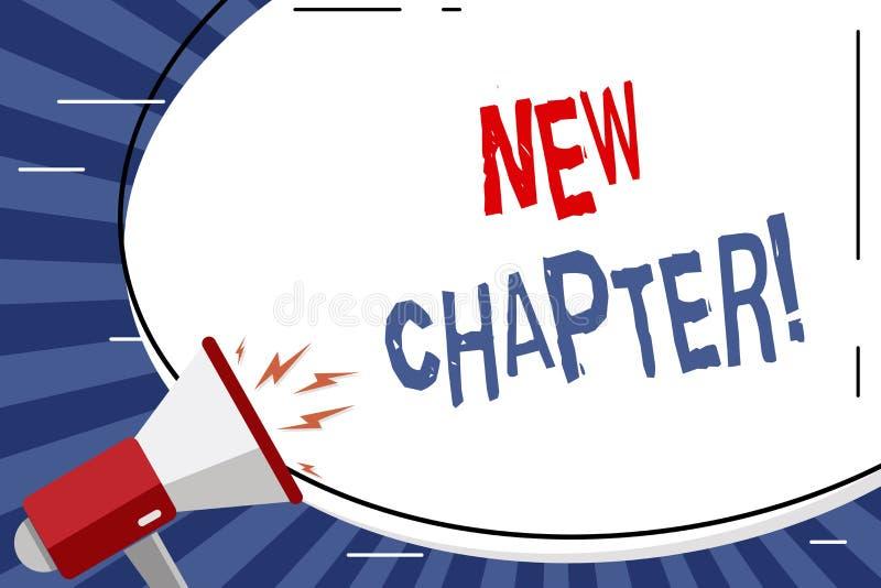 Capítulo novo do texto da escrita Significado do conceito que começa finalmente algo objetivos criados no seu enorme branco da pl ilustração do vetor