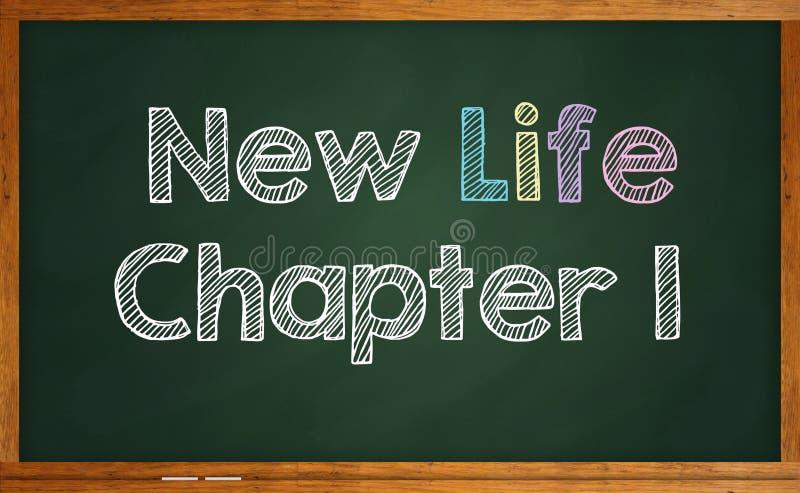 Capítulo novo um da vida ilustração do vetor