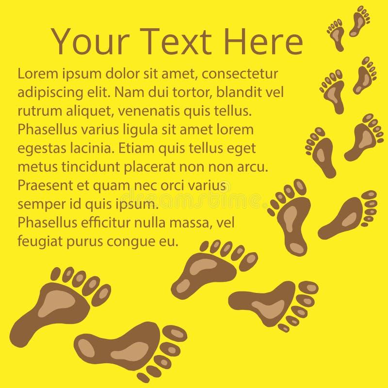 Capítulo para el texto de las huellas 03 ilustración del vector