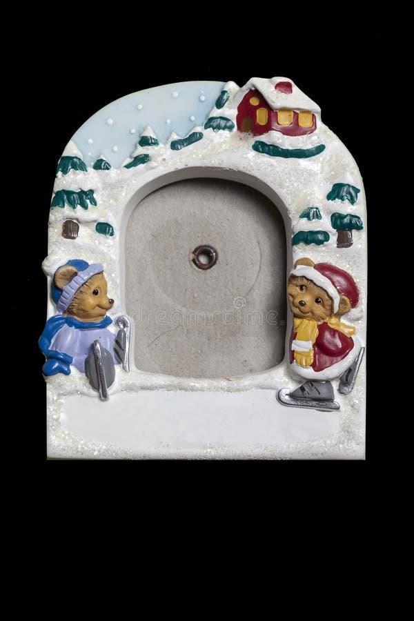 Capítulo para las fotos con un tema de la Navidad Lugar vacío para su foto foto de archivo libre de regalías