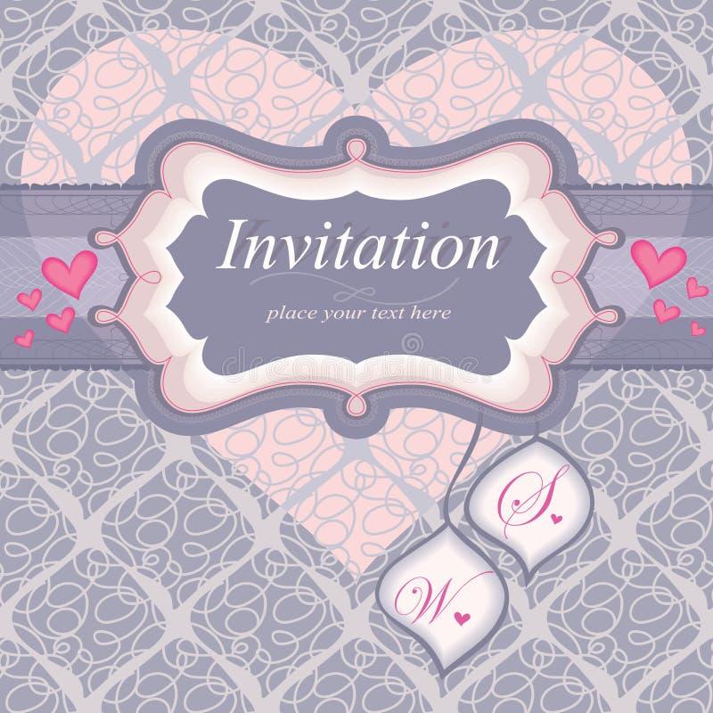 Capítulo para una invitación en color de rosa. Utilizado para la parte posterior libre illustration