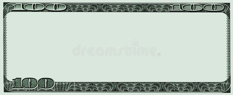 Capítulo a partir de ciento notas del dólar ilustración del vector