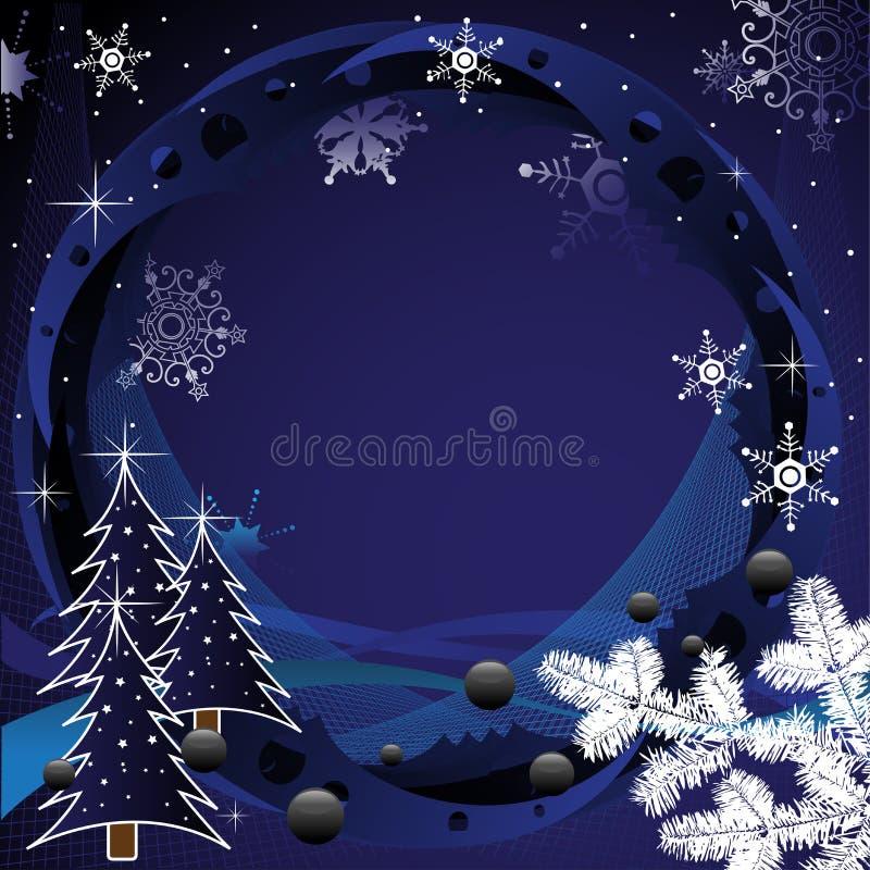 Capítulo por días de fiesta de invierno ilustración del vector
