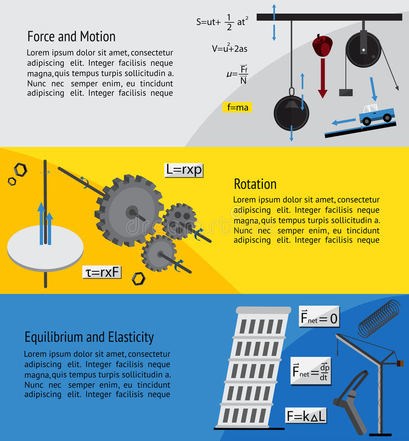 Capítulo sujeito fundamental da física e da engenharia ilustração royalty free