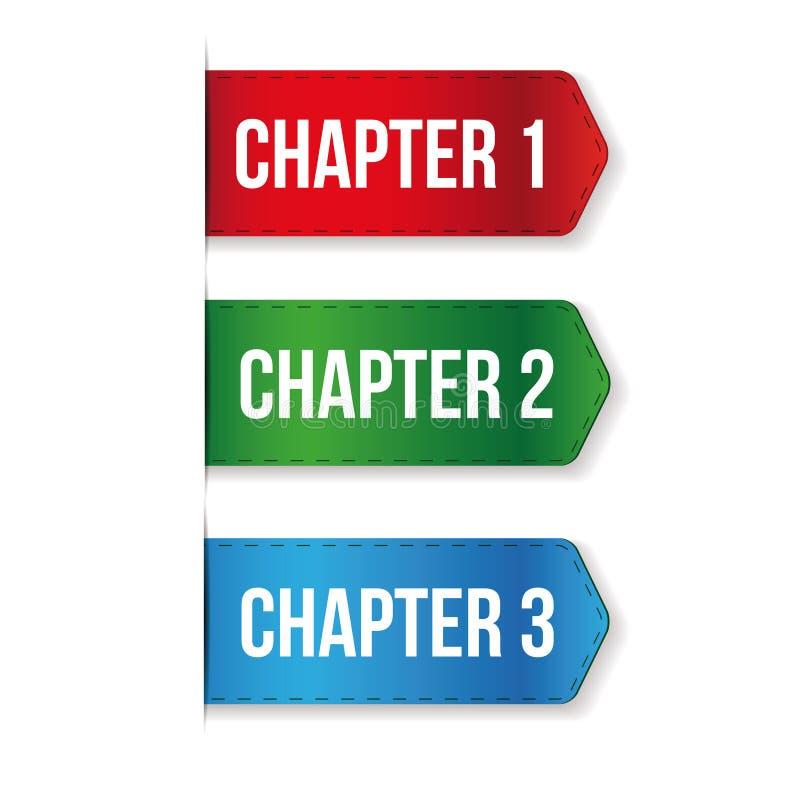 Capítulo uns, dois, vetor três ilustração do vetor