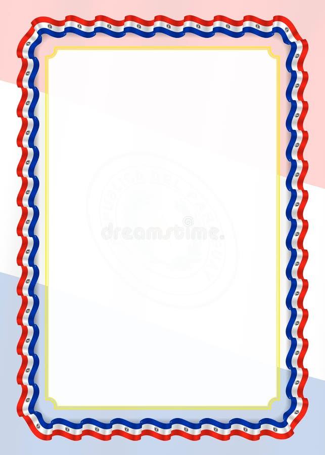 Capítulo Y Frontera De La Cinta Con La Bandera De Paraguay ...