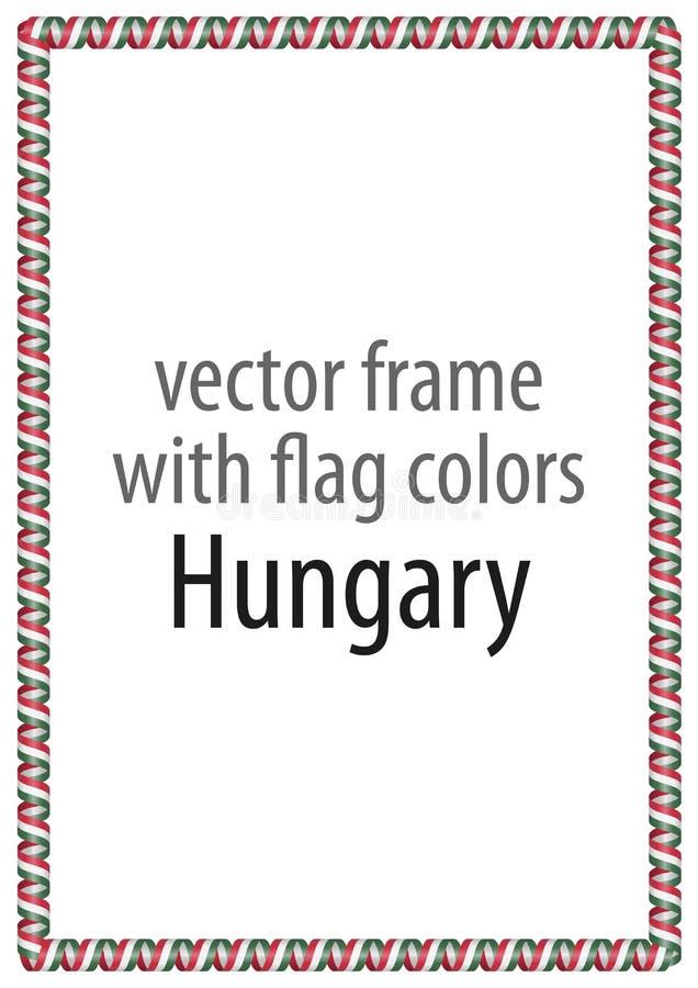 Capítulo y frontera de la cinta con los colores de la bandera de Hungría libre illustration