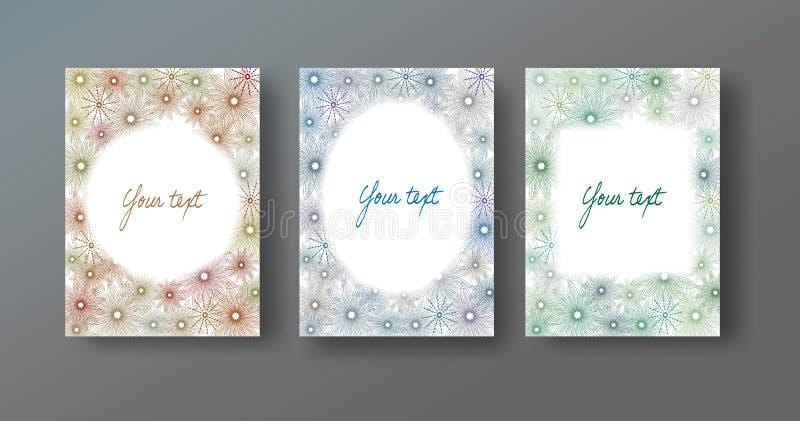 Capítulos con las flores dibujadas a mano stock de ilustración