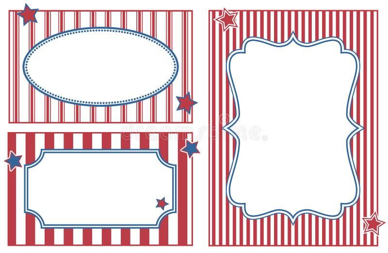 Capítulos con las rayas rojas y azules ilustración del vector