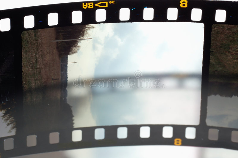 Capítulos de la película de la diapositiva imagen de archivo libre de regalías