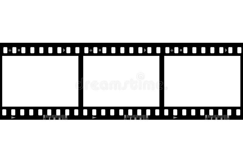 Capítulos de la película fotográfica ilustración del vector