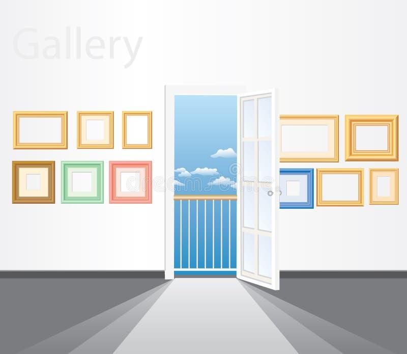 Capítulos en la pared ilustración del vector