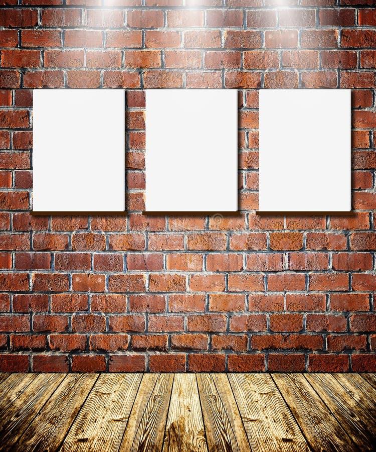 Capítulos en la pared de ladrillo imágenes de archivo libres de regalías
