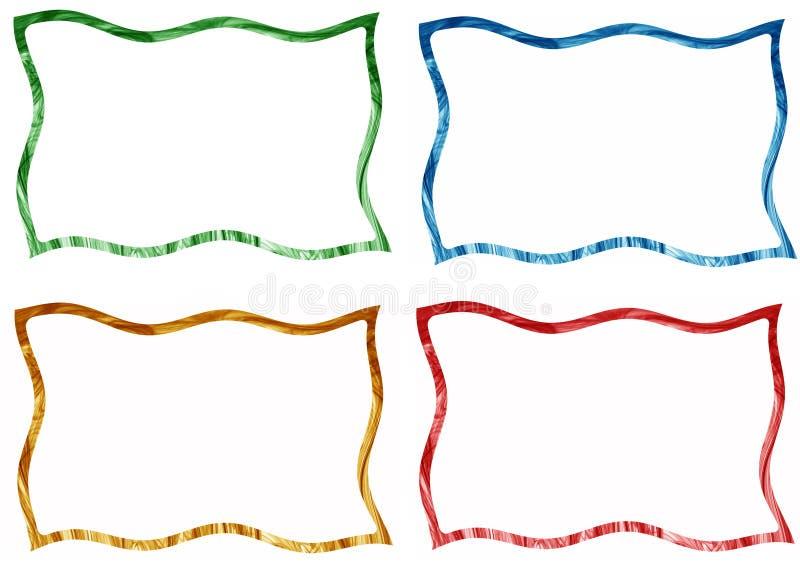 Capítulos y fronteras fijados foto de archivo libre de regalías