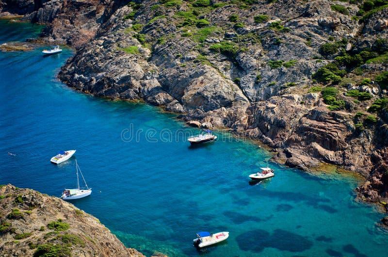 Cap在希罗纳省,卡塔龙尼亚,西班牙的de Creus 免版税库存图片