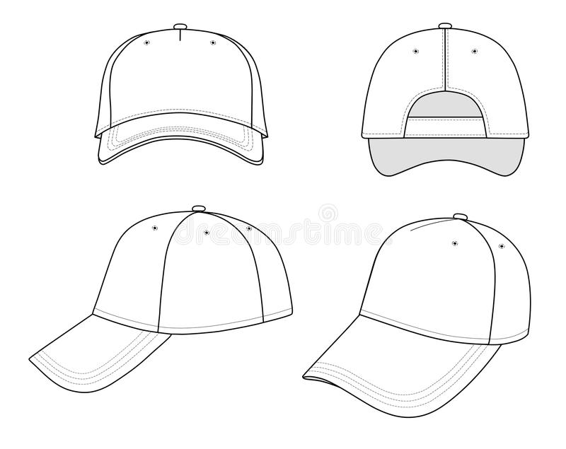 Download Cap stock vector. Image of stitch, template, clothing - 12062698