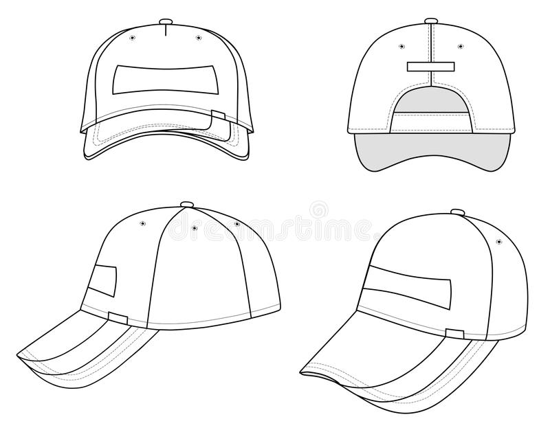Download Cap stock vector. Image of template, background, front - 12079240