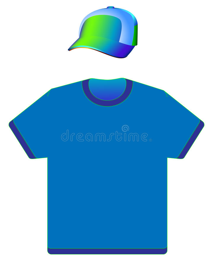 Free Cap And T-shirt Royalty Free Stock Image - 14045676