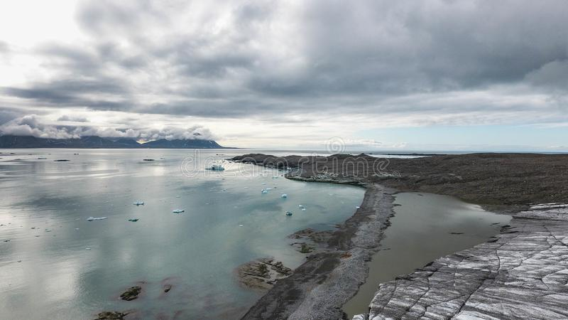 Cap arctique, le Spitzberg photo stock