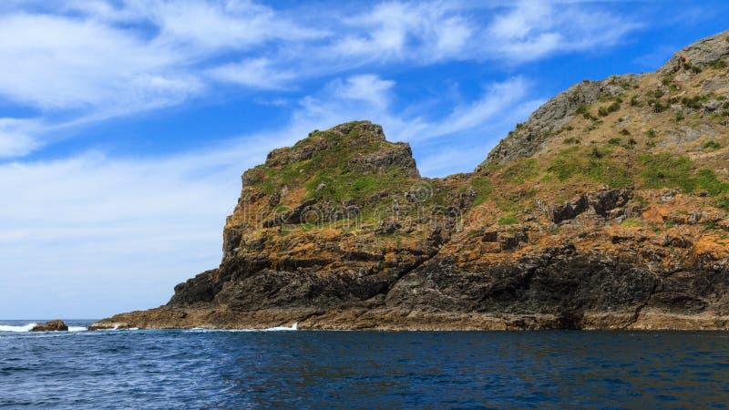 Cap Brett, baie des îles, Nouvelle-Zélande images stock