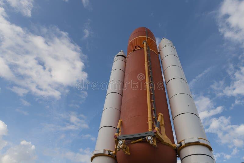 Cap Canaveral, la Floride, Etats-Unis, Apollo monte en flèche photos libres de droits