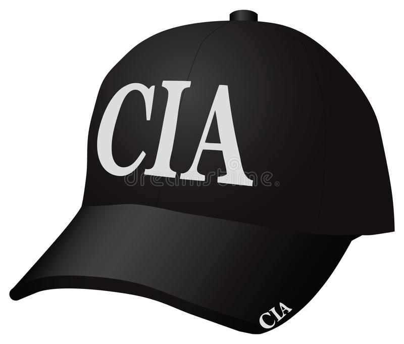 Cap CIA. Cap Employees of the Central Intelligence Agency. Vector illustration vector illustration