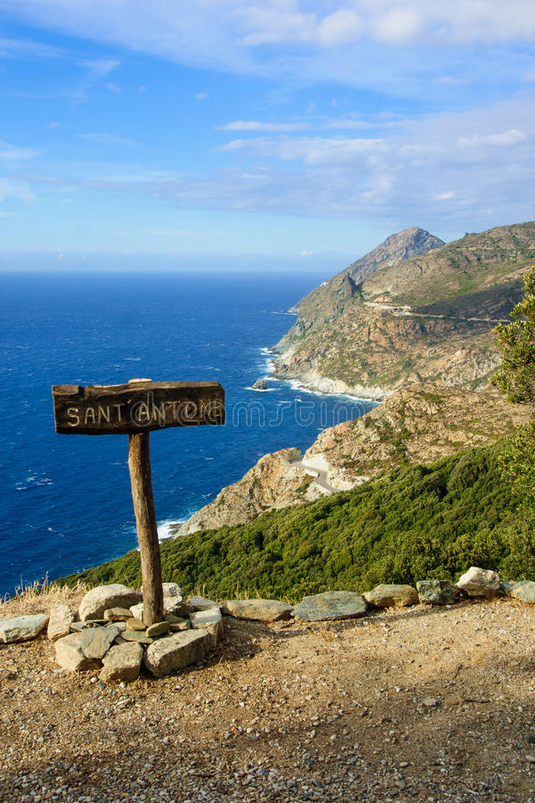 Cap Corse landskap fotografering för bildbyråer