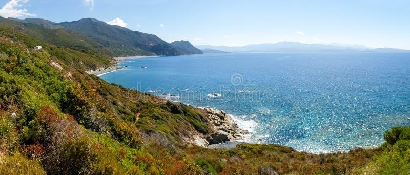 Cap Corse stranden av Nonza fotografering för bildbyråer