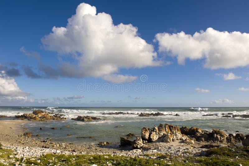 cap d'agulhas de l'Afrique du sud photos stock