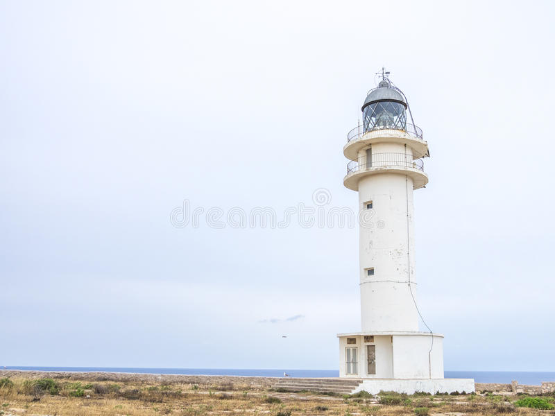 Cap de Barbaria Lighthouse stock photography