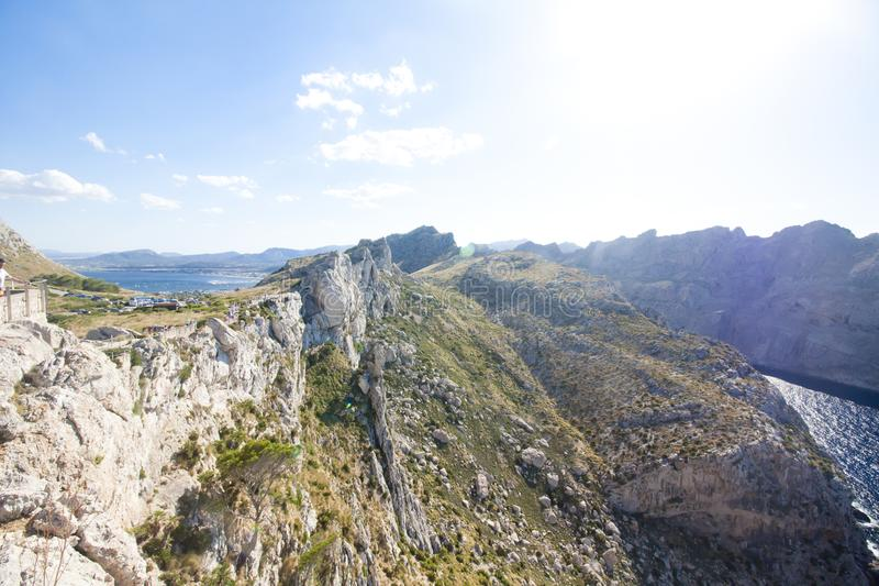 Cap de formentor - härlig kust av Majorca, Spanien - Europa royaltyfri foto